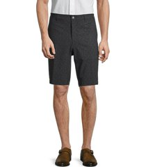 original penguin men's slim-fit print shorts - caviar - size 38