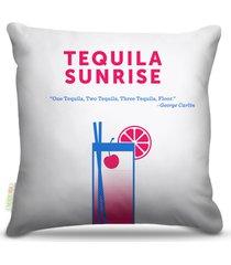 almofada nerderia bebidas vetor tequila sunrise 45x45cm - multicolorido - dafiti
