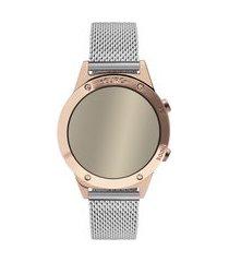 relógio feminino euro digital - eujhs31bac4k rosê
