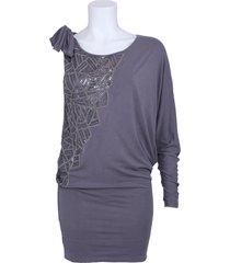 abito syrmak - phard - jurken - grijs