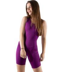 macaquinho 4 estações fitness feminino curto costas abertas liso regata esporte roxo