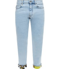 jeans with cuffed hems