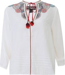 blusa desigual tassel off-white
