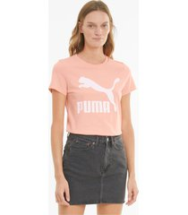 classics t-shirt met logo dames, maat l   puma
