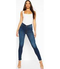 high rise 5 pocket skinny jeans, indigo