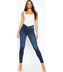 high rise 5 pocket skinny jeans, indigo