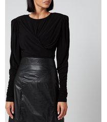 isabel marant women's gimli jersey long sleeve top - black - fr 36/uk 8
