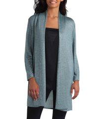 women's long sleeve ruched shoulder cardigan