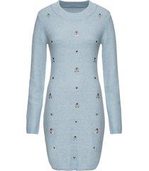 abito in maglia con pietre (blu) - bodyflirt