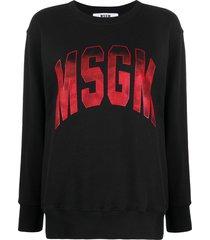 msgm ombré-logo loose-fit sweatshirt - black