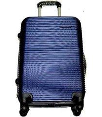 maleta fibra policarbonato grande 28 pulgadas 4 ruedas - azul claro