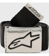 cinturón negro-plateado alpinestars ageless web