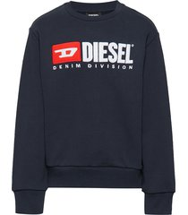screwdivision over sweat-shirt sweat-shirt trui blauw diesel