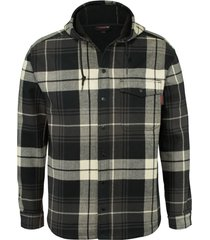 wolverine men's bucksaw bonded shirt jac gunmetal plaid, size l