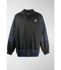 balenciaga bb panelled zip-up jacket
