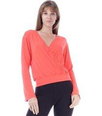 blusa amazonia vital transpassada feminina - feminino