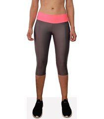 leggings deportivo corto mujer gris oscuro tykhe rosa
