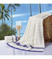 2pcs-33x75cm-and-1pc-70x140cm-100-cotton-bath-beach-towels-plaid-serviette-de-pl
