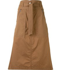 sea belted a-line skirt - brown