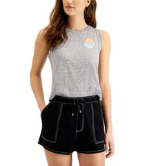 dickies juniors' logo-graphic cropped muscle t-shirt
