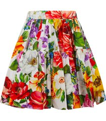 dolce & gabbana floral print pleated detail skirt