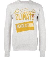 vivienne westwood man 'revolution' print sweatshirt - grey