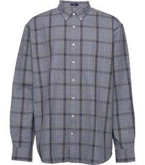 d1. heather oxford plaid reg bd overhemd casual blauw gant