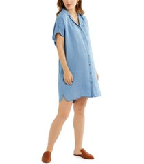 a pea in the pod cotton chambray maternity dress