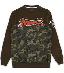 le tigre men's vance crew neck sweatshirt