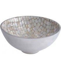 fruteira mosaico- pashmina- fruteira mosaico al/mop- branco - branco - dafiti