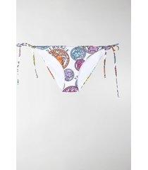versace logo-print bikini bottoms