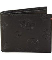 logo leather bi-fold wallet
