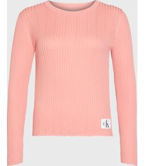 sweater calvin klein jeans rosa - calce regular