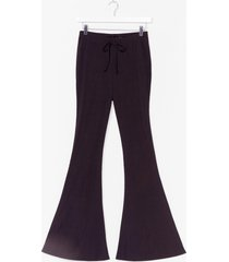 womens all that she wants ribbed flare pants - black