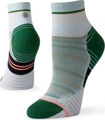 calcetin stance varsity stripe qtr green stance