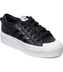 nizza platform w sneakers skor svart adidas originals