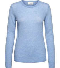 pure cashmere o-neck pullover stickad tröja blå sparkz copenhagen