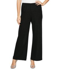 alex evenings pull-on straight-leg pants