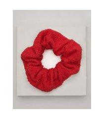 amaro feminino scrunchie atoalhado, vermelho