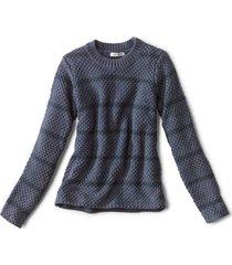 natural wonders striped crewneck sweater