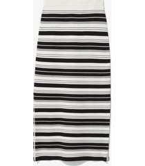 proenza schouler white label compact stripe skirt black/off white m