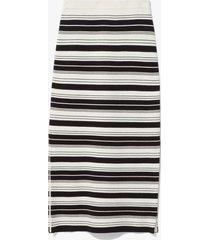 proenza schouler white label compact stripe skirt black/off white m