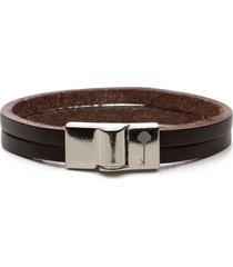 pulseira key design - huerta silver brown