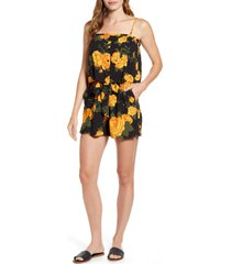women's gibsonlook x hot summer nights two peas layered camisole romper, size - (regular & petite) (nordstrom exclusive)