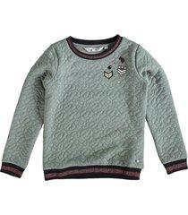 garcia groene padded sweater met badges