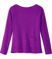 pullover met boothals van bio-katoen, roze 36/38