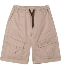 fendi beige cargo shorts