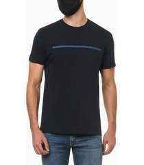 camiseta masculina estampa linha azul marinho calvin klein jeans - pp