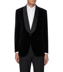shawl satin lapel tuxedo blazer