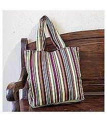 cotton shoulder bag, 'san jose stripes' (guatemala)